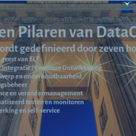 De zeven pilaren van DataOps