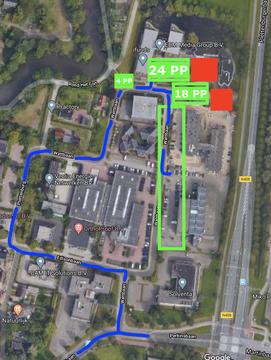 Parkeren rondom Smart Data Center
